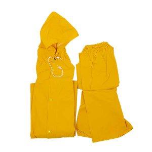 חליפת גשם PVC צהוב