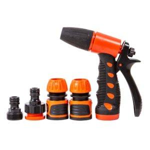 אקדח מים פלסטי מקצועי + מחברים כתום אפור