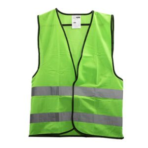 ווסט ירוק זוהר + כיתוב עוזר בטיחות