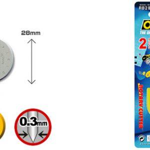 """להבי קוטר 28 מ""""מ דגם: RB28-10  מתוצרת OLFA"""